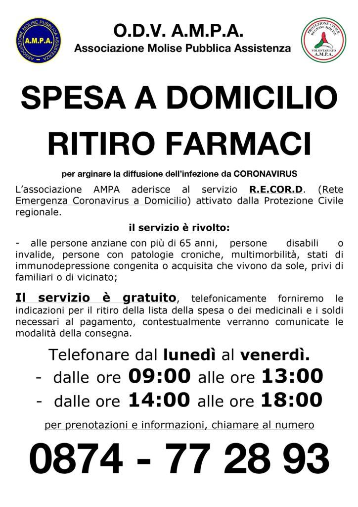 AMPA - RECORD SPESA A DOMICILIO  e RITIRO FARMACI